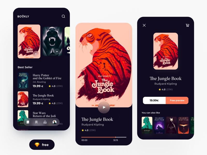 Mobile E-books App UI