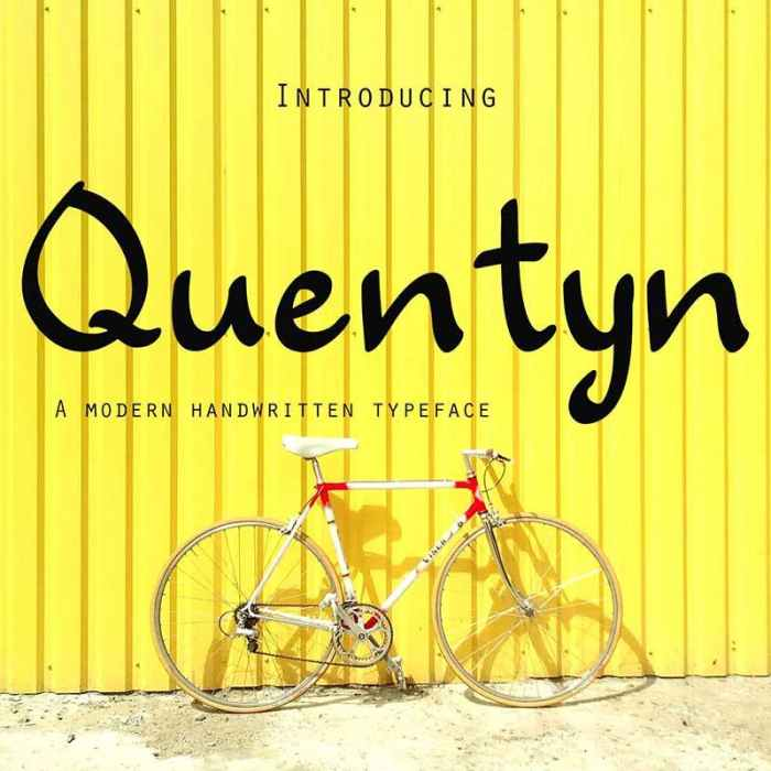 Quentyn: A Free Handwritten Font