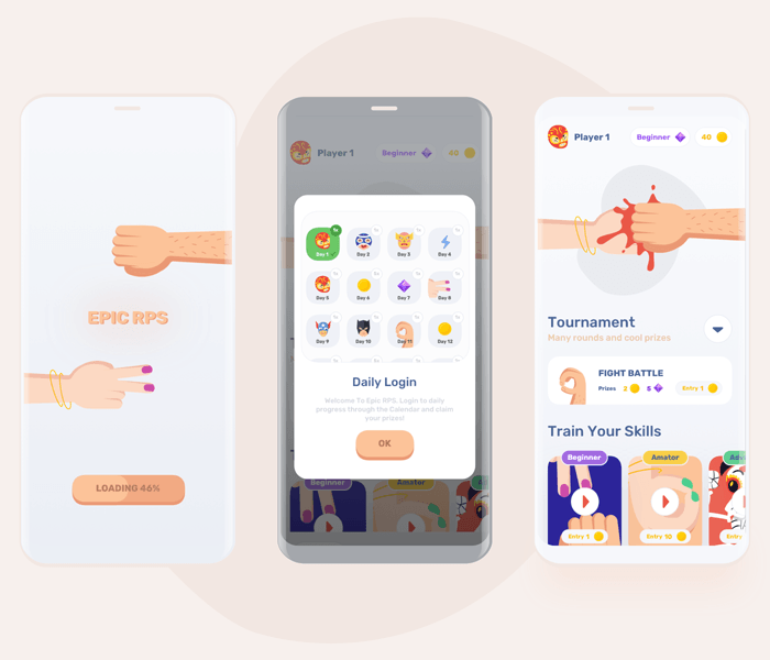 Mobile Game UI Kit – Epic RPS