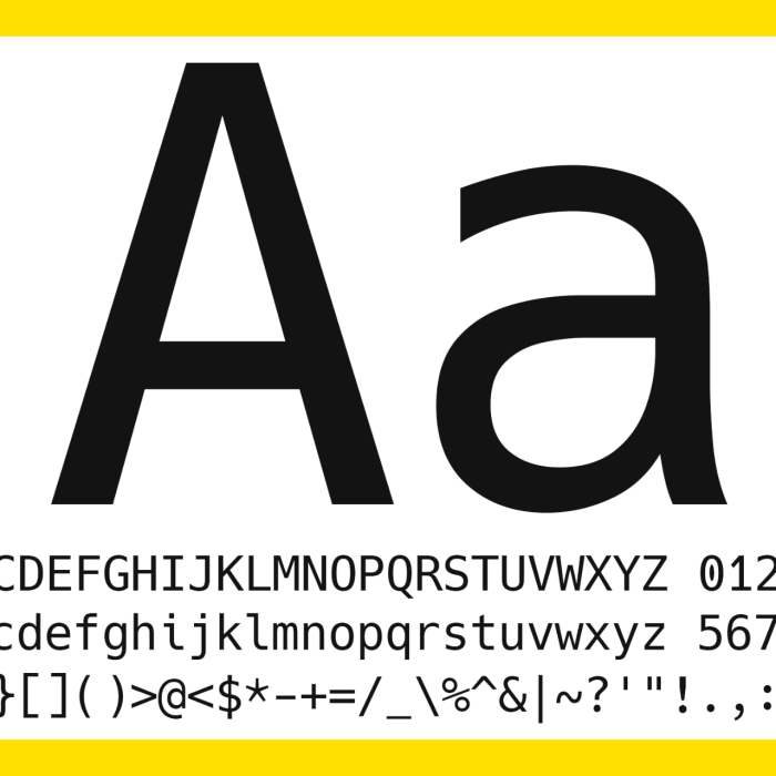 Hack: A Typeface Designed for Source Code