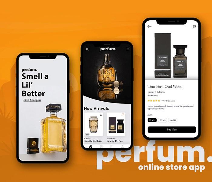 Perfum: Online eCommerce Store Mobile App Design