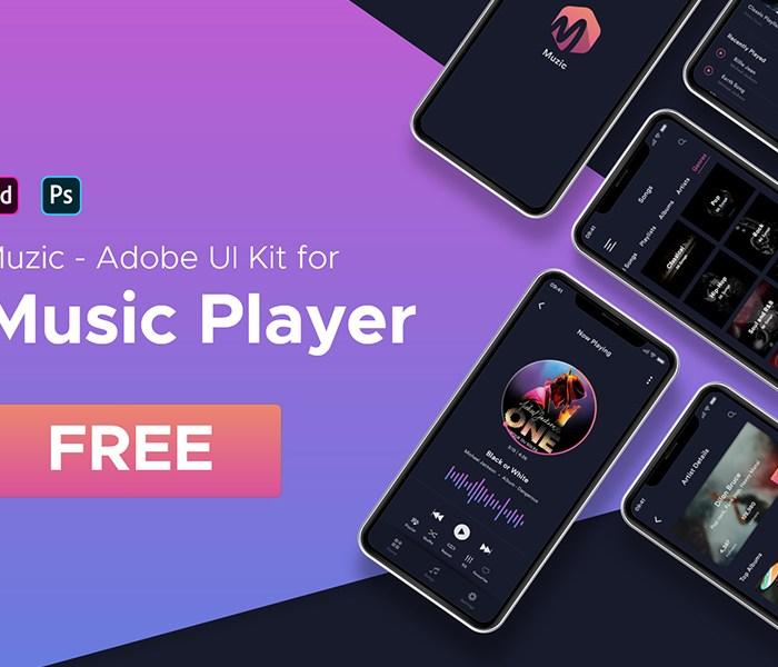 Muzic: Free Adobe XD Music UI Kit