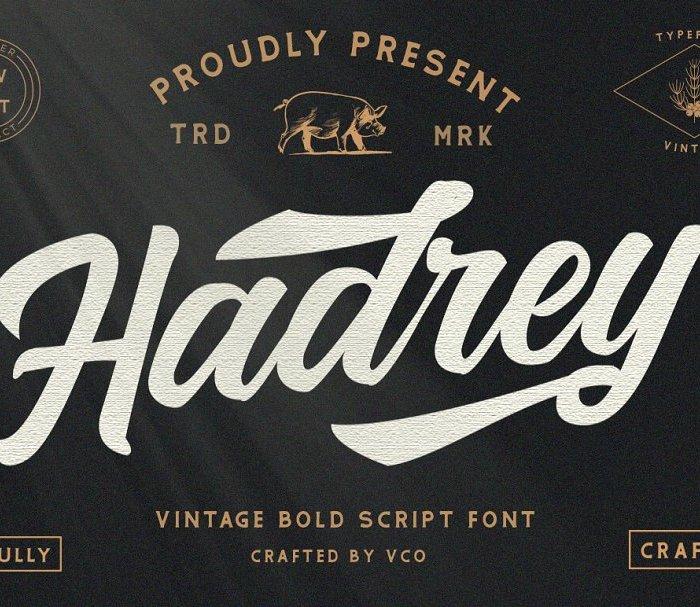 Hadrey Vintage Bold Script