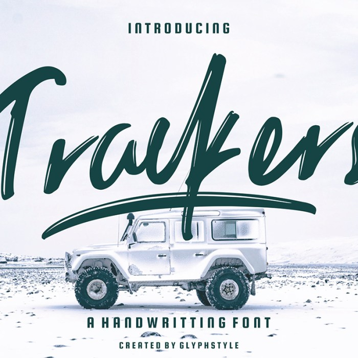 Trackers: A Free Handwritten Font