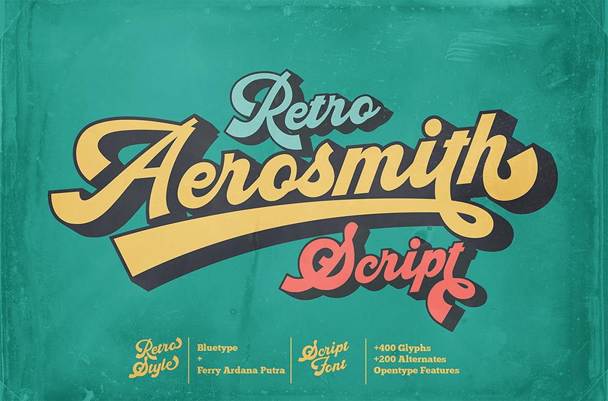Aerosmith Retro Script Typeface