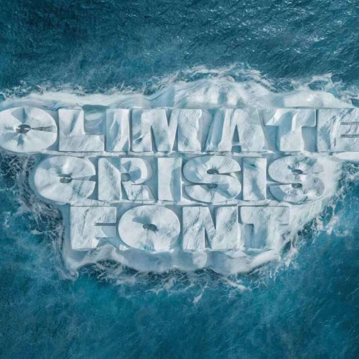 A new variable font for free which reveals the full horror of Climate Crisis
