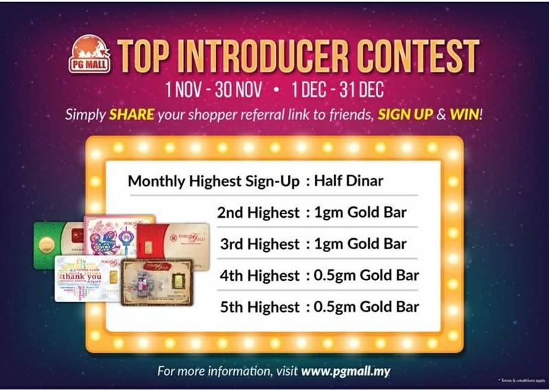 Kempen Top Introducer Contest untuk pendaftaran teramai di PGMall melalui referral link.