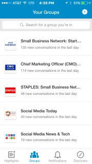 LinkedIn Groups App