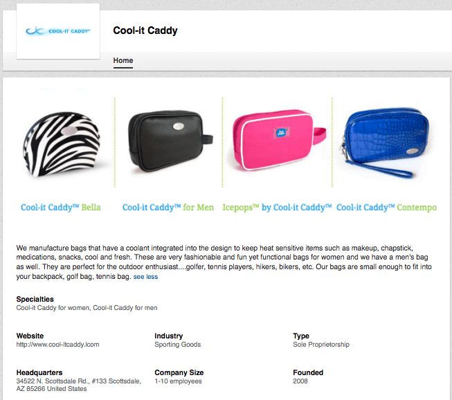 Cool-It-Caddy LinkedIn