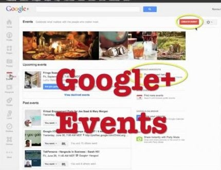 Google Events the old version - they're back!