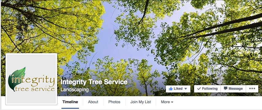 Integrity Tree Service Facebook Page