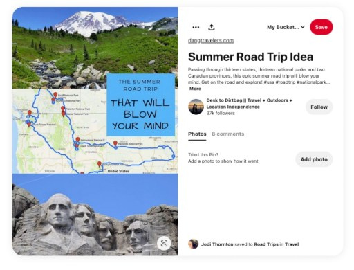 Travel is hot right now on Pinterest as people plan their travel destinations.