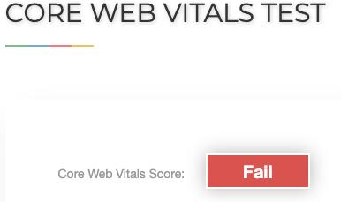 Core Web Vitals Test