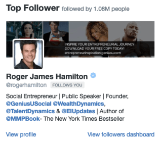 Twitter top follower