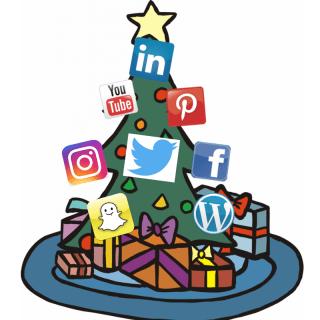 Social Media Christmas Tree
