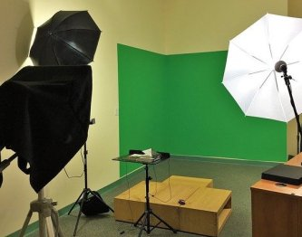 You don't need to set up a video recording studio like this