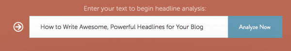 Headline Analyzer helps you write good, enticing headlines.