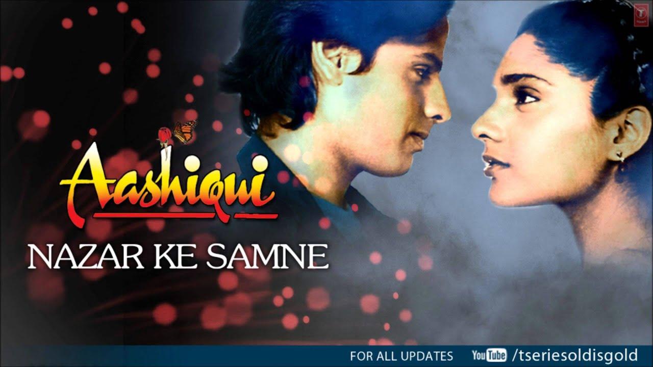 Nazar Ke Samne Lyrics in Hindi and English - Kumar Sanu, Aashiqui (1990)