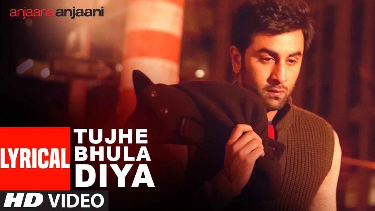 Tujhe Bhula Diya Lyrics in Hindi and English - Mohit Chauhan, Anjaana Anjaani (2010)