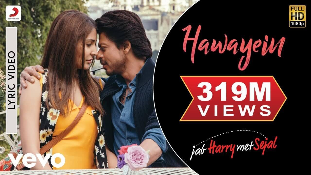 हवाएं Hawayein Lyrics in Hindi and English - Jab Harry Met Sejal (2017), Arijit Singh