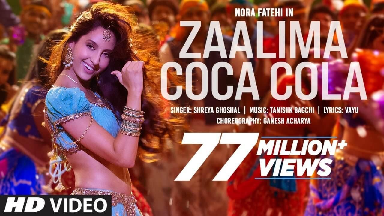 ज़ालिमा कोका कोला Zaalima Coca Cola Pila De Lyrics in Hindi & English - Bhuj (2021), Shreya Ghoshal