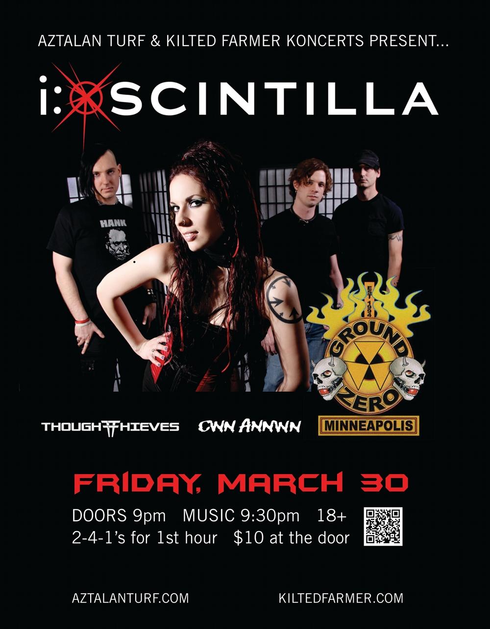 I:Scintilla March 30 Ground Zero flyer