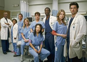 "101962_R003_0031 -- GREY'S ANATOMY - ""Grey's Anatomy"" focuses on young people struggling to be doctors and doctors struggling to stay human. It's the drama and intensity of medical training mixed with the funny, sexy, painful lives of interns who are about to discover that neither medicine nor relationships can be defined in black and white. Real life only comes in shades of grey. (ABC/FRANK OCKENFELS) JAMES PICKENS, JR. AS ""RICHARD WEBBER"", CHANDRA WILSON AS ""MIRANDA BAILEY"", JUSTIN CHAMBERS AS ""ALEX KAREV"", KATHERINE HEIGL AS ""ISOBEL 'IZZIE' STEVENS"", T.R. KNIGHT AS ""GEORGE O' MALLEY"", SANDRA OH AS ""CRISTINA YANG"", ISAIAH WASHINGTON AS ""PRESTON BURKE"", ELLEN POMPEO AS ""MEREDITH GREY"", PATRICK DEMPSEY AS ""DEREK SHEPHERD"""