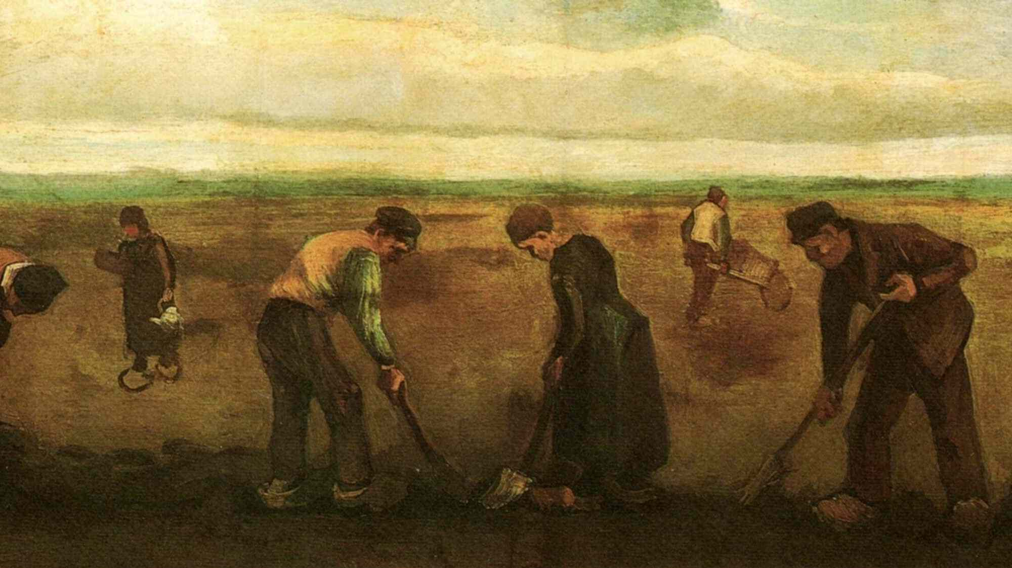 Vincent van Gogh - Farmers Planting Potatoes 1884