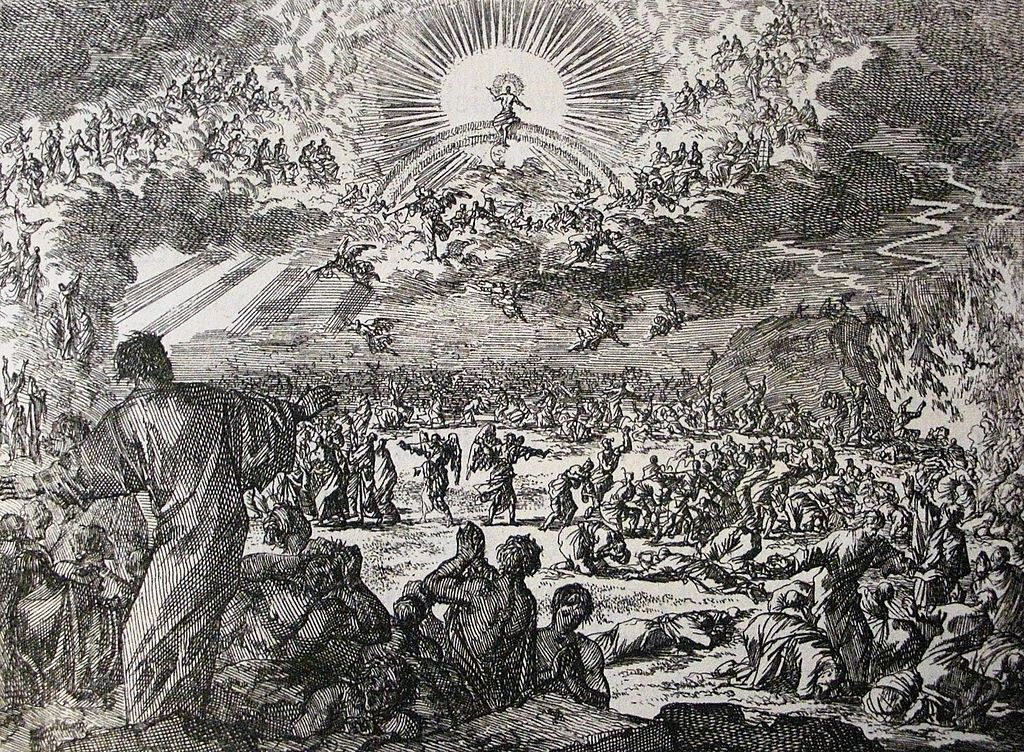 Jesus' Last Judgement by Jan Luyken