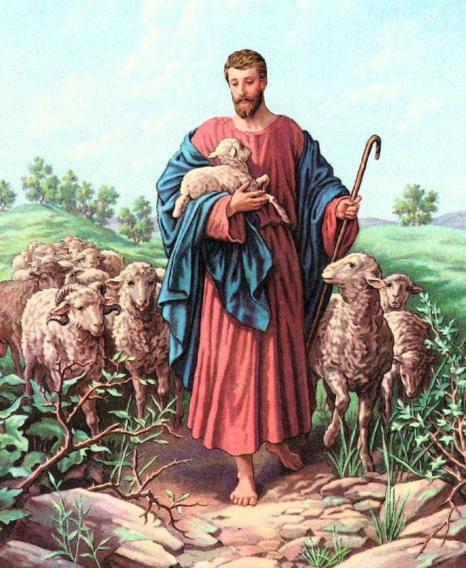 Jesus with the Lambs - James Shepard