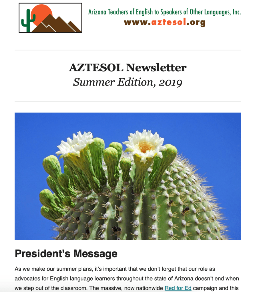 AZTESOL Summer 2019 Newsletter