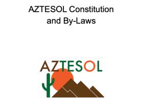 AZTESOL Constitution