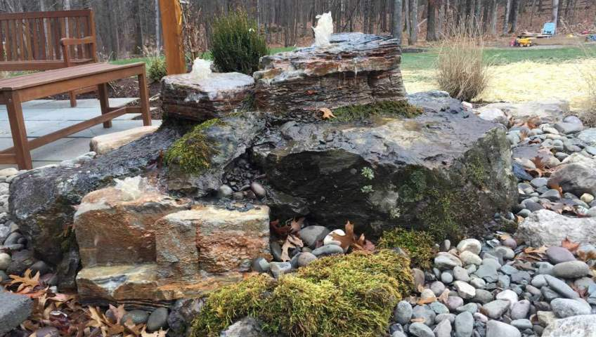 Pondless waterfalls are perfect to have next to a sitting area, New Paltz NY
