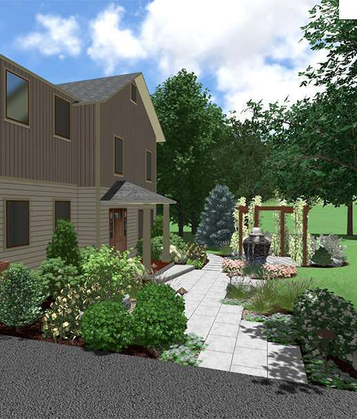 FRONT LANDSCAPING 3D DESIGN NEW PALTZ