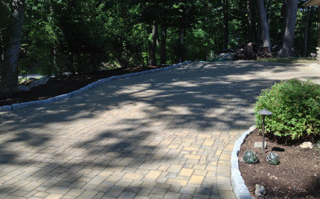 Cambridge pavers driveway and main entrance of this home in Highland NY