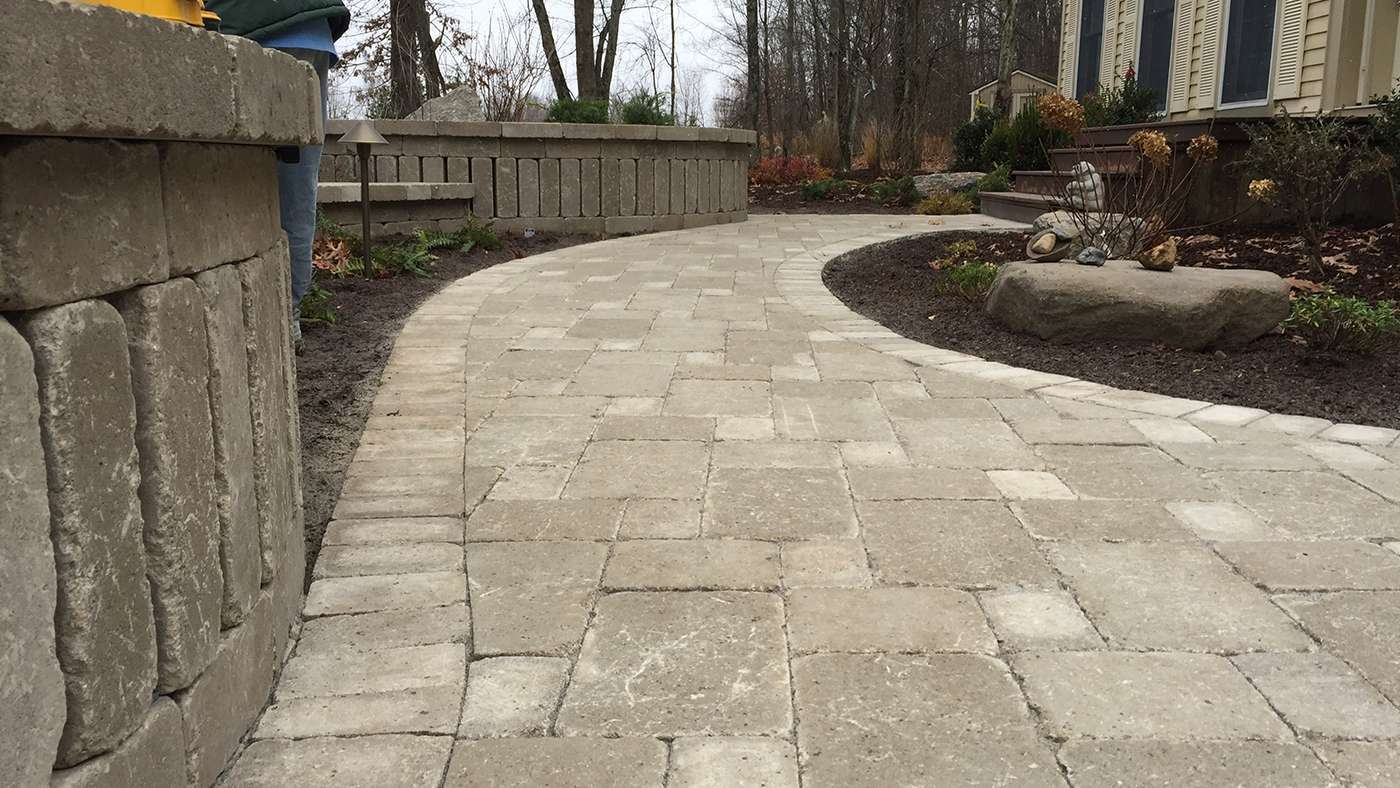 Brussels Pavers from Unilock for a beautiful front walkway