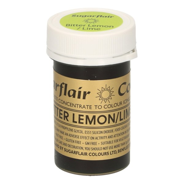 Colorante color Limon amargo sin gluten 25 gm Sugarflair