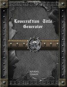 Lovecraftian Title Generator