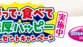 【終了】2016/11/30メイトー 使って・食べて濃厚ハッピープレゼントキャンペーン