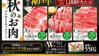 【終了】2018/11/20フードリエ 秋のお肉プレゼントキャンペーン