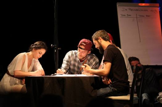 Live Sketching for Bubble Slam Poetry in Hannover