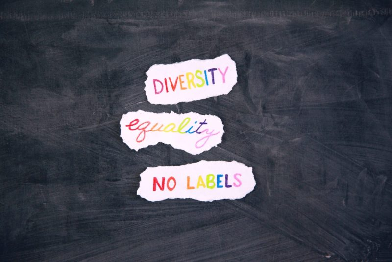 Diversity, equality, no labels