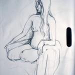 Figure Study 3 - Crayon (5 min)