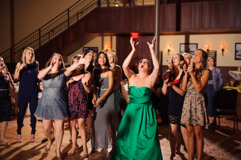 Kelsey & Sean: Pearl Stables Wedding in San Antonio - Flower Toss - Austin Wedding Photographers