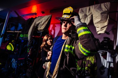 Hannah & Charlie: Round Rock Fire Station Engagements - Epic Engagement Photos - Austin Wedding photographers