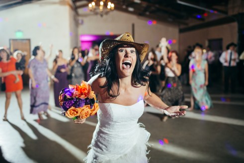 Antonio & Michelle: Lone Oak Barn Wedding - Flower toss - Round Rock