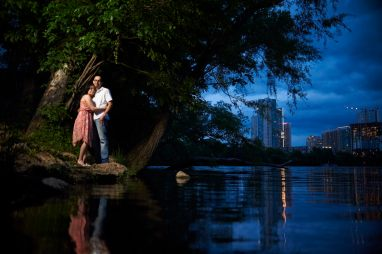 Moonlit Engagement Photos