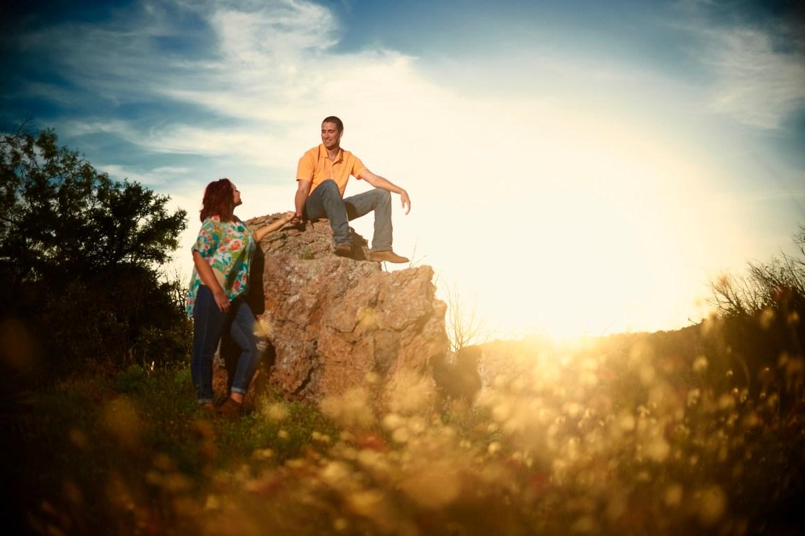 Inks Lake Adventure Engagement - Creative Engagement Photos - Hill Country Engagement Portrait - Austin Adventure Engagement