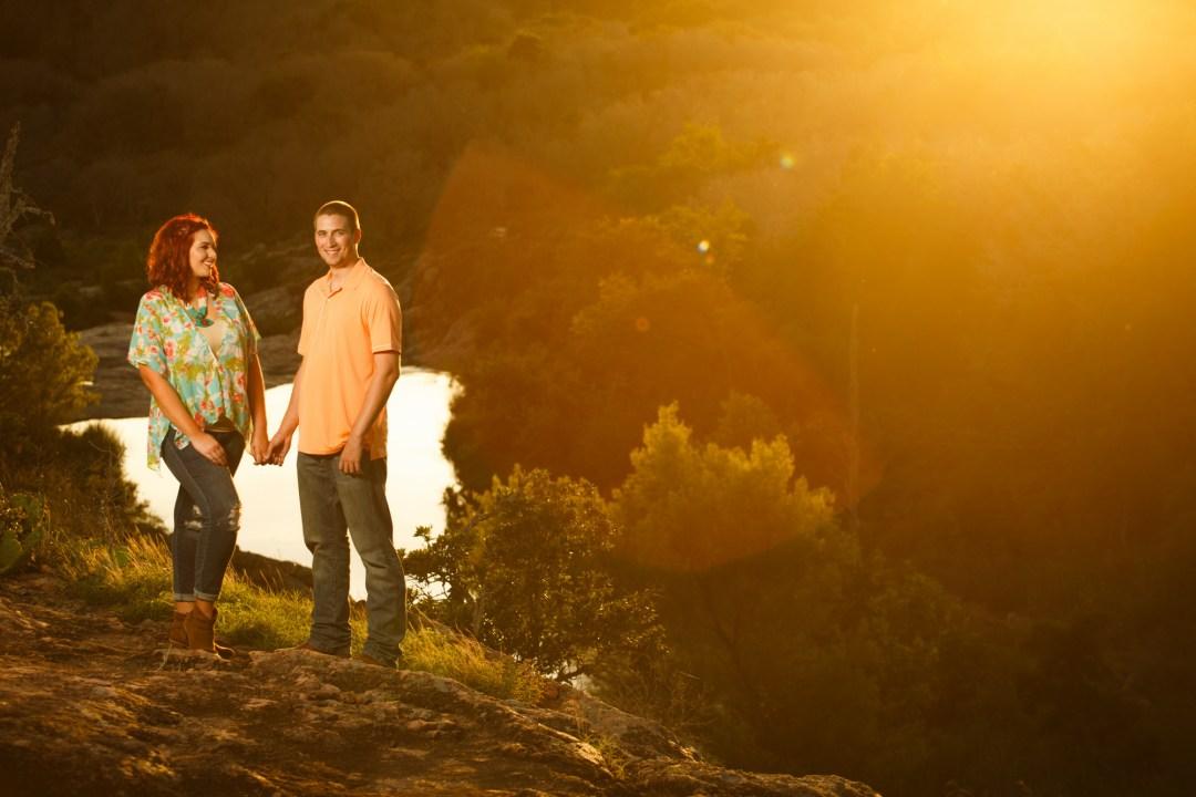 Inks Lake Adventure Engagement - Sunset Engagement Photos - Hill Country Engagement Portrait - Austin Adventure Engagement