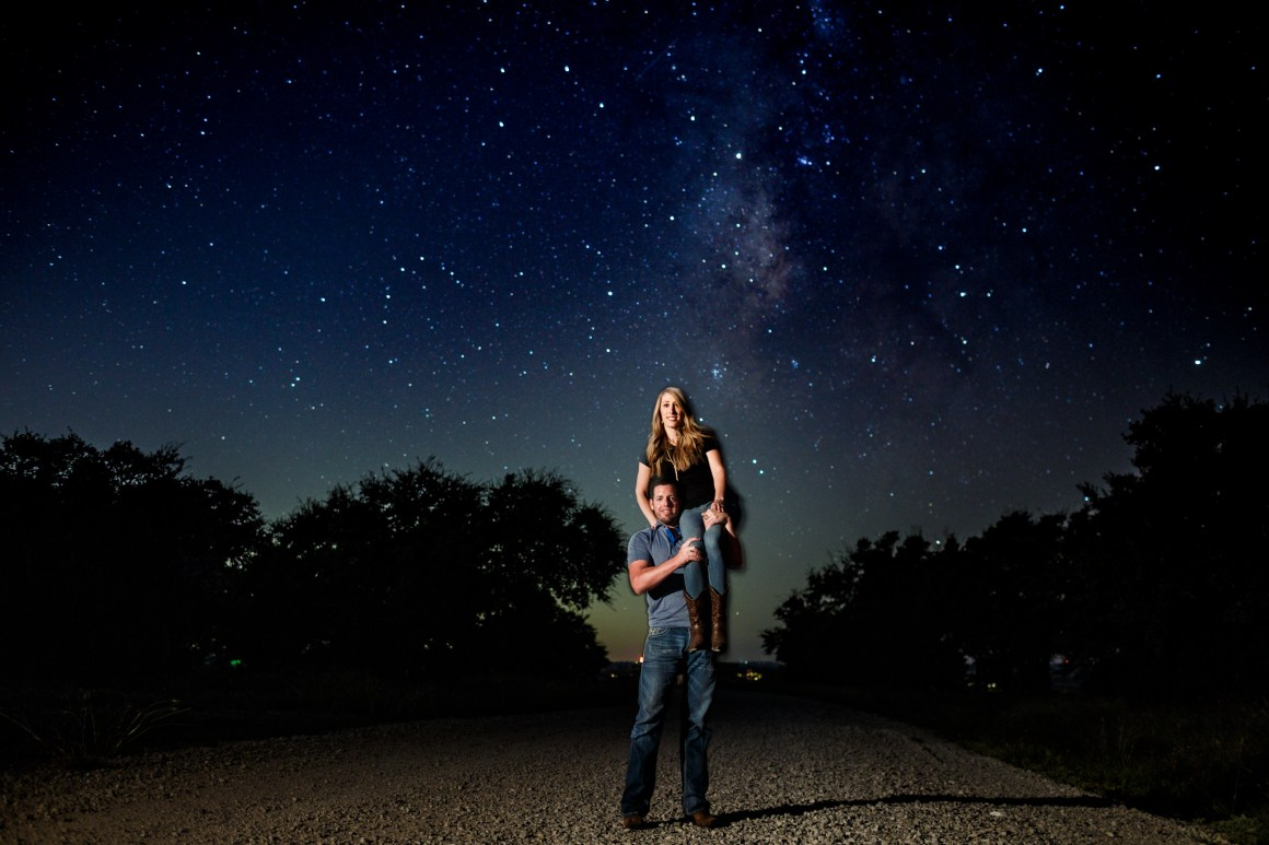 Jacob and Kathleen austin hill country adventure engagement-  hill country engagement photos - golden hour engagement photos - austin wedding photographers - nature engagement photos - astro engagement photos - astrophotography -